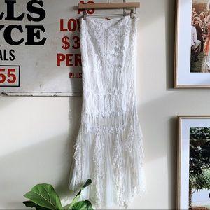 Free People Skirts - Free People Lace Mermaid Skirt SZ8